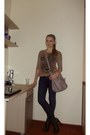 Forest-green-boots-jeans-heather-gray-bag-light-brown-blouse