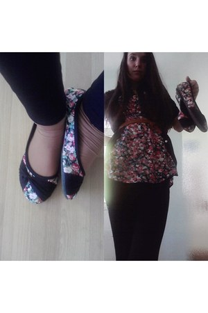 blouse - shoes - belt