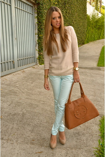 Bershka pants - Zara sweater - tory burch bag - Michael Kors watch