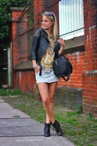 black asos jacket - mustard maison scotch shirt - black Alexander Wang bag