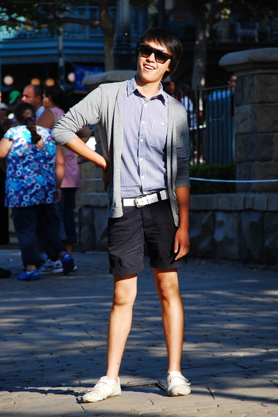 BDG sweater - Forever21 shirt - No label belt - H&M shorts - Lacoste shoes