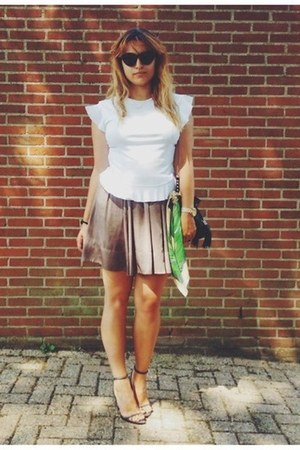 Zara blouse - H&M skirt - Zara sandals