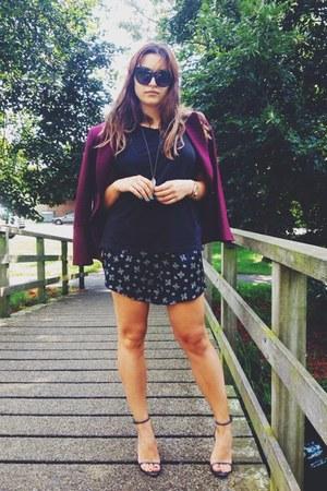 vintage blazer - Zara sandals - Primark t-shirt - Forever 21 glasses
