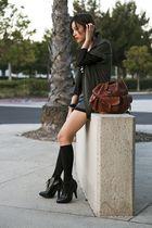 black H&M socks - black Burberry boots - green Vena Cava jacket