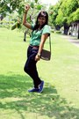 Olive-green-sogo-blouse-navy-zara-pants