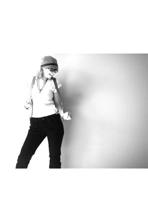 American Apparel shirt - vintage hat - H&M pants - Vintage suspenders accessorie