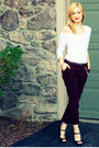 Black-old-navy-shirt-red-delias-pants-brown-fergie-shoes