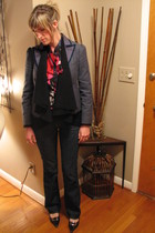 Marc Jacobs blazer - Cynthia Rowley Cashmere sweater - tory burch blouse - Old N