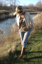 vintage jacket - Old Navy top - Paper Denim & Cloth jeans - Steve Madden boots -