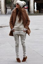 Choies coat - Bershka pants