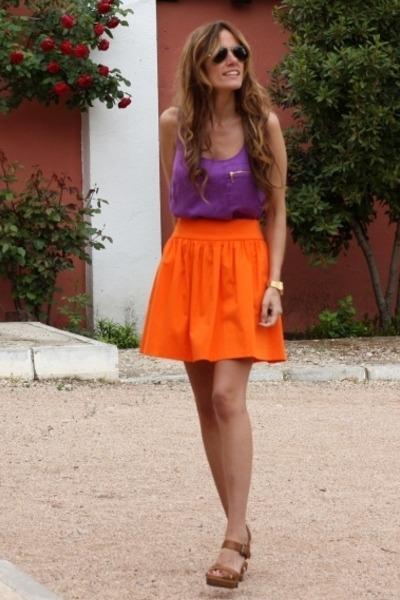 Zara t-shirt - Zara skirt - Zara heels