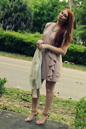 light pink TJ Maxx necklace - light pink H&M dress