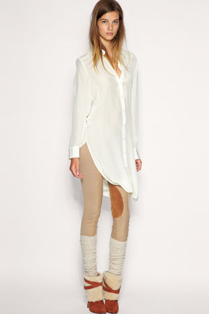 white asos shirt - beige asos leggings
