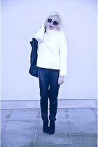 black deezee boots - black baba bag - black Pimkie pants