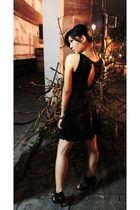 black plainjanes dress - from Debenhams shoes - batik  bracelet