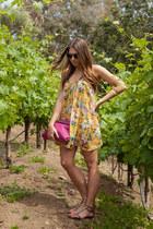 Nasty Gal bracelet - Urban Outfitters dress - Zara bag - Forever 21 sunglasses