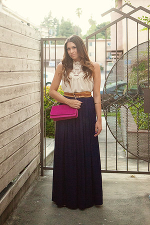 Aldo bag - Nasty Gal top - bcbg max azria pants - H&M belt