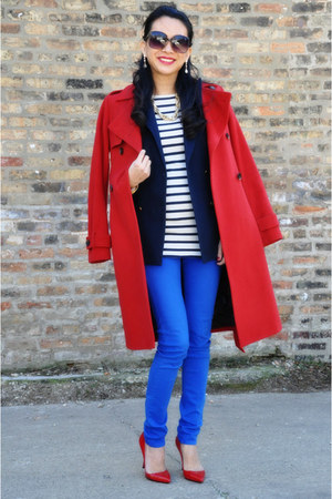 trench coat Tommy Hilfiger coat - rag & bone jeans - stripes joseph top