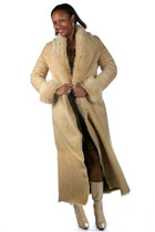 Blonde Toscana Shawl Collar Coat