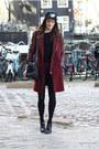 Crimson-zara-coat-black-the-hundreds-hat-black-brogues-pam-flats