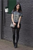 charcoal gray banggoodcom t-shirt - heather gray Mango bag