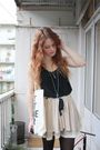 Beige-topshop-skirt-black-topshop-vest-black-h-m-boots