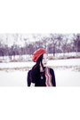 Red-striped-zigzag-fox-scarf-black-suede-boots-fila-boots