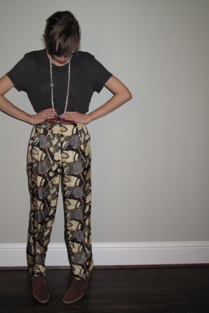 American Apparel t-shirt - Vintage Ralph Lauren pants