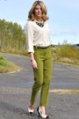 Cream-black-zellers-diy-pumps-drafted-pattern-self-made-pants-zara-blouse
