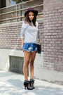 Black-isabel-marant-boots-crimson-topshop-hat-blue-striped-zara-shirt