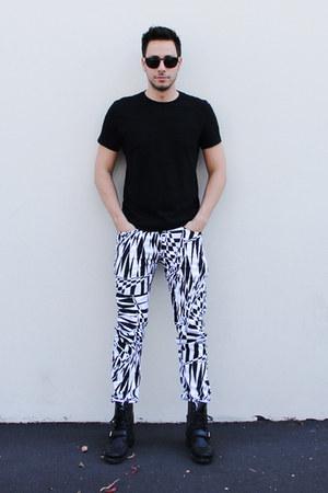 black Ralph Lauren boots - black H&M shirt - black Wild Soul sunglasses