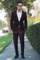 tan bow tie banana republic tie - black tassel loafers Zara shoes
