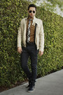 Off-white-leather-jacket-heritage-jacket-light-brown-jcrew-shirt