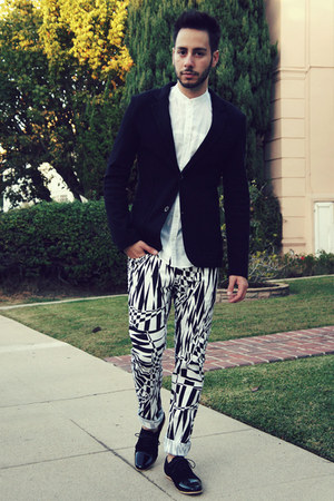 black AntoineStanley shoes - black Zara blazer - white H&M shirt