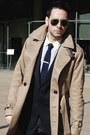 Navy-givenchy-blazer-brown-zara-shoes-beige-trench-coat-burberry-coat