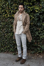 Dark-brown-brogue-shoes-zara-shoes-tan-trench-coat-burberry-coat