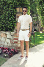 Brown-boat-shoes-vans-shoes-white-original-penguin-shirt-white-h-m-shorts