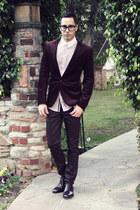 crimson cap toe Paul Evans shoes - crimson coated Hot Topic jeans
