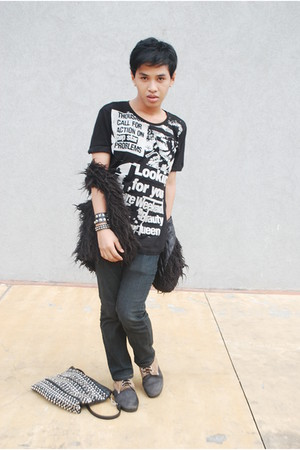 black top - black vest