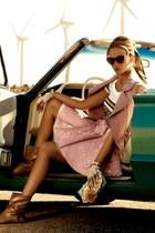 light pink skirt - pink blazer