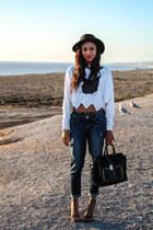 crop top Choies top - Express jeans - satchel 31 Phillip Lim bag