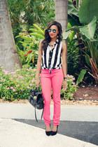 black hattie shirt Motel shirt - maroon Urban Outfitters jeans