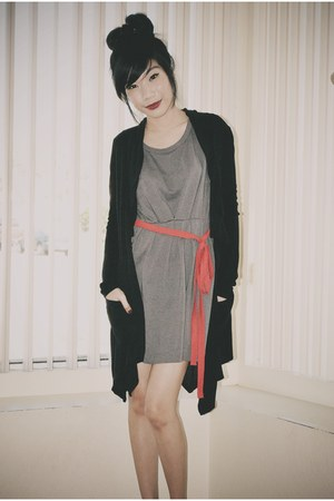 Forever 21 dress - Forever 21 belt - kashieca Philippines cardigan