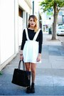 Black-jeffrey-campbell-boots-white-nasty-gal-dress-black-rebecca-minkoff-bag