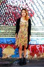 Black-jeffrey-campbell-boots-gold-floral-print-vintage-dress