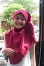Teal-skirt-ruby-red-diy-scarf-dark-brown-purse-ivory-moms-made-vest