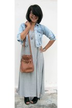 combad DIY dress - jeans Oz jacket - leather bag choco bag - patent leather icon