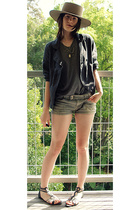 Jay Jays jacket - supre shorts - cotton on shirt - Mooloola shoes