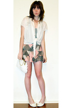 Billabong skirt - agent ninetynine shirt - treasure chest top - vintage purse