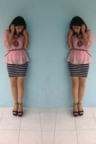 knitted Forever 21 skirt - Zara wedges